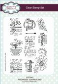 Creative Expressions - Promises Journaling A5 Clear Stamp Set - CEC841